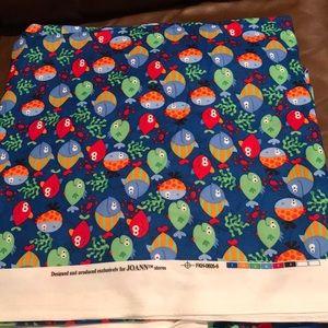 Fish flannel fabric